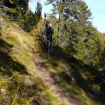 The downhill singletrack