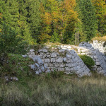 The ruins of Romanian bridge named Fajeri