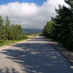 The paved road on Dugo Polje