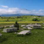 Necropolis near the trail in Dugo Polje.