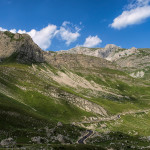 Durmitor mountain, seen from the trail