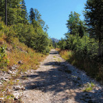 The carriageway on Klekovača mountain.