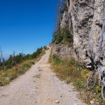 The carriageway on Klekovača mountain. The ascent.