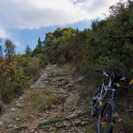 The rocky singletrack from Gospa Od Pompeja to the highway
