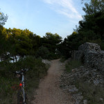 The trail along the coast of The Island of Brač