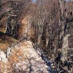 The rocky trail towards Hahlići