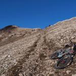 The rocky singletrack on Obruč mountain