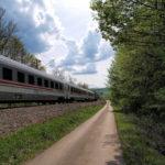 The paved section from Škerići village to Gornje Dubrave train station