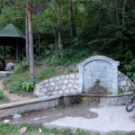 The drinking water fountain near the paved road from Konjic to Borci village