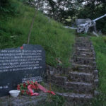 The monument in memory of WW II near the paved road from Konjic to Borci village