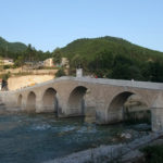 The bridge over Neretva river in Konjic town