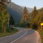 The paved road from Fojnica to the lake Prokoško Jezero.