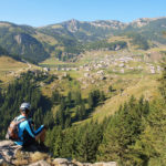 The view from the trail. Vranica ridge and the lake Prokoško Jezero.