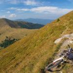 The labeled singletrack near Šćit peak