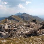 The ruins of military building at Brasina peak