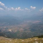 The view towards Neretva valley taken from Velež mountain