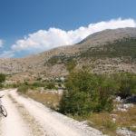 Velež mountain. The carriageway section to Brasina peak.