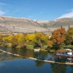 Trebinje town and Trebišnjica river