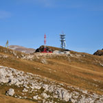 The radio relay station at the ridge of Lebršnik mountain