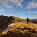 Lebršnik mountain. The ride on the ridge.