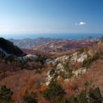 The view to the Adriatic see from the section Vrbanj - Orjen saddle.