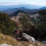 The hiking section from Orjen saddle to Zubački Kabao peak