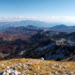 The view from Zubački Kabao towards Lovćen mountain