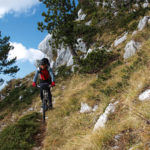 The downhill ride from Zubački Kabao to Orjen saddle.