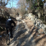 The unpaved road section along Tramuntana forest.
