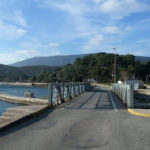 The bridge in Osor and Osoršćica mountain in the background