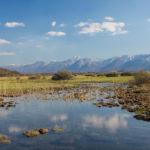 The view on South Velebit mountain from the trail Smiljan - Trnovac