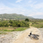 The unpaved road at Ponikve plateau