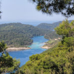 The view from the trail on Great and Small Lake on The Island of Mljet