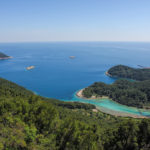 The view from Montokuc to south course of The Island of Mljet