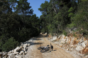 Unpaved section