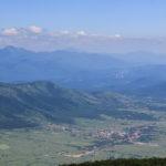The view from Ozeblin to Lapačko Polje field