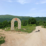 The unpaved road and the junction at Velika Golija mountain