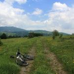 The carriageway near Stankovići village on Grmeč mountain