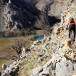 The rocky singletrack to Kuda's Bridge (Kudin Most)