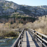 The trail near the waterfall Roški Slap in National Park Krka