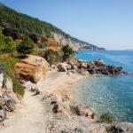 The beach next to Sveta Nedjelja on The Island of Hvar