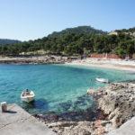 The beach in Milna on The Island of Hvar