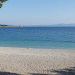 The beach near the trail in Makarska