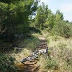 The short singletrack in Rogoznica
