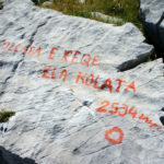 The label on the stone at Zla Kolata peak. Many other sources have mentioned 2534m value too
