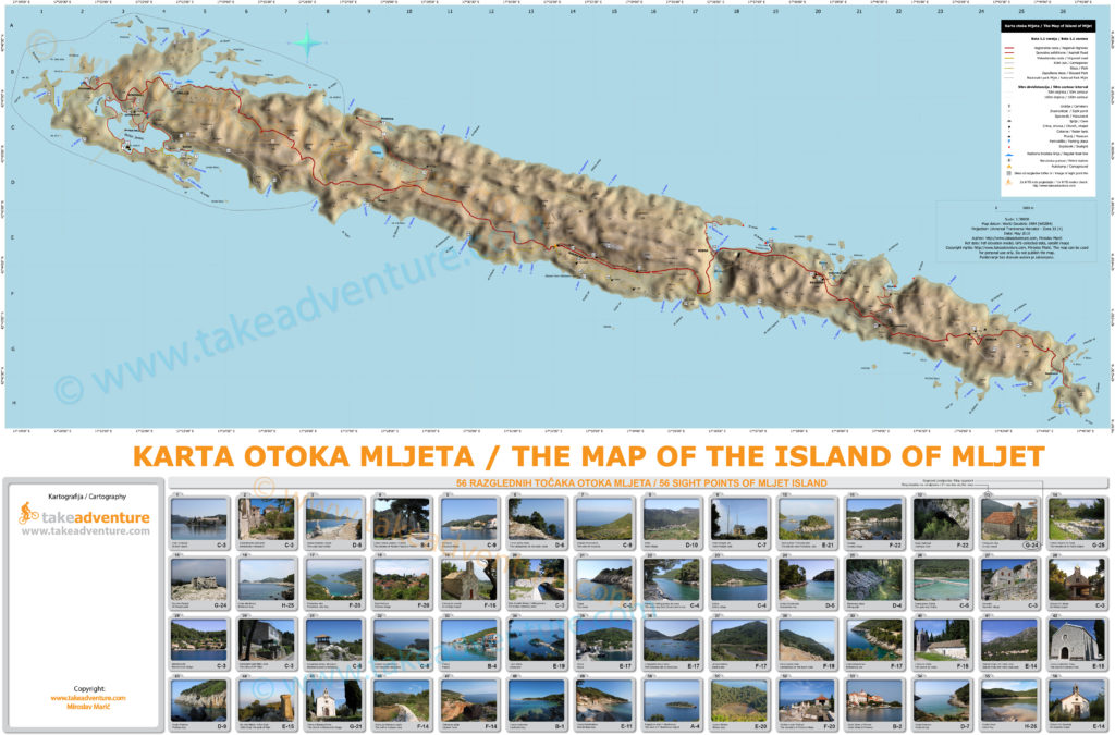 The Map of The Island of Mljet