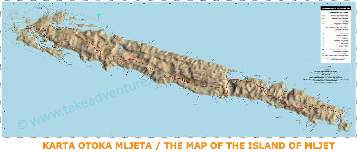 Map The Island of Mljet