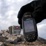 GPS data screen at Vaganski Vrh summit