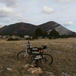 The labeled trail at Veliko Rujno plateau