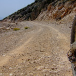 The unpaved road section from Murvica to Vidova Gora